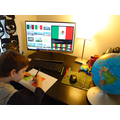 Asher has been taking a virtual geography trip