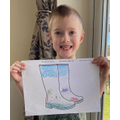 James D's great welly boot art