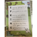 A super spring acrostic from Teddy