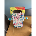 Emily J created an amazing robot by recycling