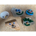 Zac's happy pet rocks.