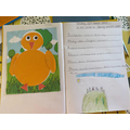 Indie DV created a spring chick and acrostic poem