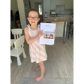 Sophie's book about Flat Stanley's Canadian trip