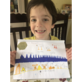 Teddy's wonderful summer shapes picture