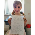 "Stella wrote a  super ""Once in a Lifetime"" story."