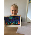 Albie's colourful underwater world.