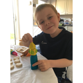 Jack W has been busy making Big Ben!