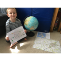 Jack has been practising his mapping skills