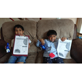 Rayyan and Ayan completed the Easter hunt