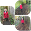 Jack walking in wellies.