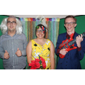 Fun in the photo booth at the Prom