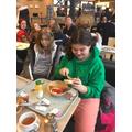 First stop - breakfast in France!