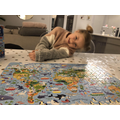 Iris completed a world puzzle