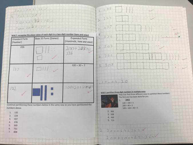 We have been exploring what is inside a number.