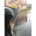 Miss Tamsett is sad it's raining!