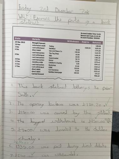 Year 4 Managing money - living in the wider world