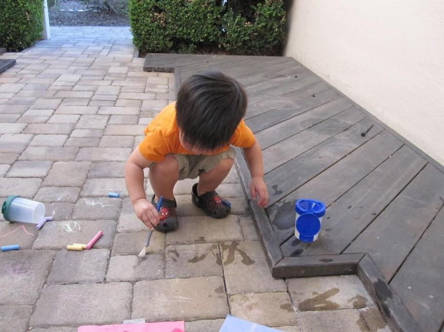 Using water to practise patterns