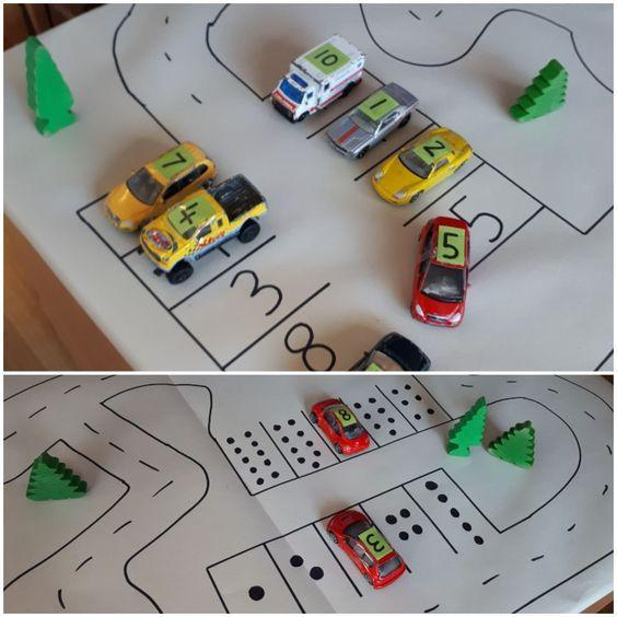 Number recognition with cars
