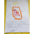 Anayah's descriptive writing about her unicorn.