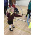 Oliwia at Inspire's Inclusive Sports Day