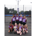 The Oaks Girls' Netball Team