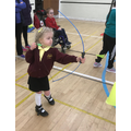 Oliwia at Inspire's Inclusive Sports Day