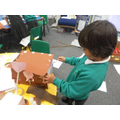Creating the 3 pigs houses!