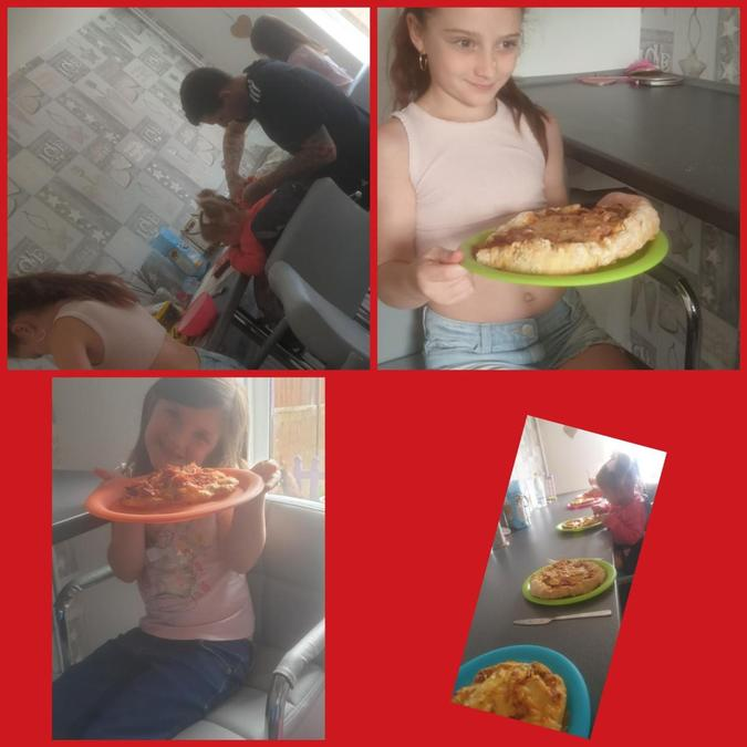 """Kaycee and her family had a """"pizza bake off!"""""""