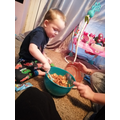 Noah making Easter nests