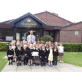 Stephenson Class collecting their Star of the Week Award...