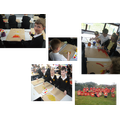 Pupils in Year 3 preparing for the Roman battle...