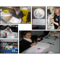 Pupils in Year 3 and 5 learning about natural disasters, Ancient Egyptian Gods, Maths...