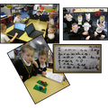Pupils in Year 1 acting out the Gruffalo and completing their Purple Mash assignments...