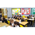Pupils in Year 6 actively engaged and enjoying their Destination Reader lessons this week!