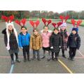 Pupils in Reception enjoying the 'Reindeer Walk'...