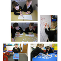 Pupils in Year 1 having lots of fun reading, writing and learning together...