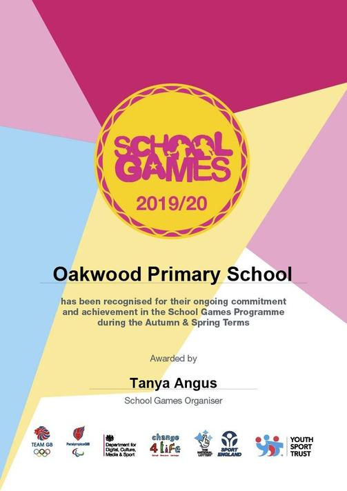 We are proud to have been awarded our School Games Award