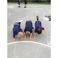 3 balancing boys