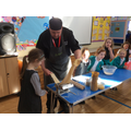 Mike from Mellor's showed us how to make pasta.