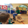 Claire came to teach us about first aid.