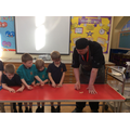 He showed us how to make farfalle bows.