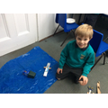 Beginning to make our animal sculptures.