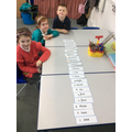 Ordering number word cards 1-20