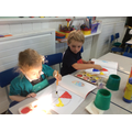 We had fun exploring colour mixing!