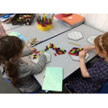 Wellbeing Day - making patterns with colour blocks