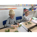 Wellbeing Day -creating art with natural materials
