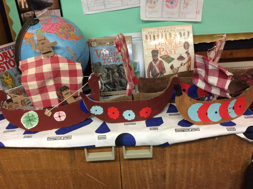 We made Viking longships as part of our topic.