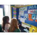 Using the Maths display to support learning.
