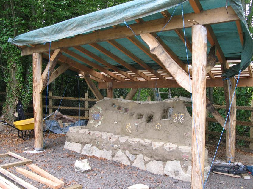 Our timber shelter is nearly complete