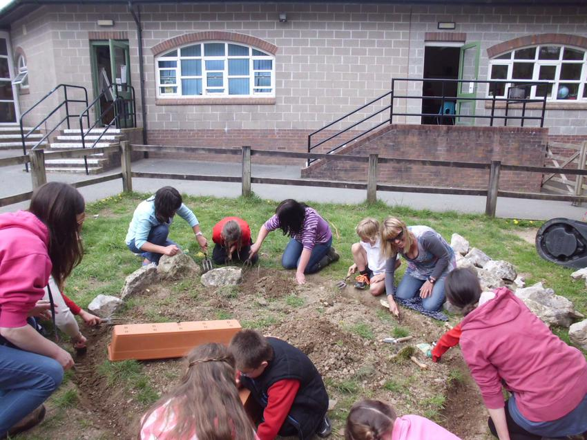 Making a start on our keyhole garden
